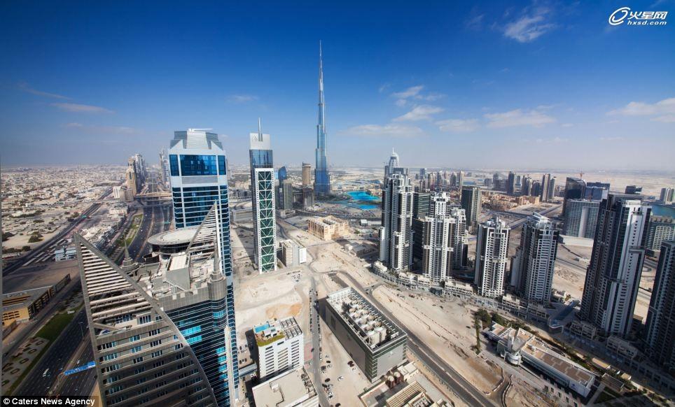 俯瞰迪拜城市规划设计