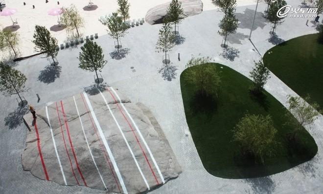 景观设计神话 停车场改造蜜糖海滩公园项目
