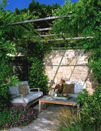 庭院节点透视图手绘