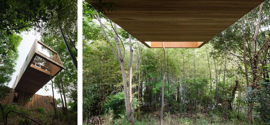 """森林中的巨型""""积木"""" 日本山地住宅建筑"""