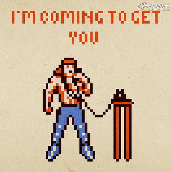 8-bit像素画系列:玩家恶搞经典游戏人物