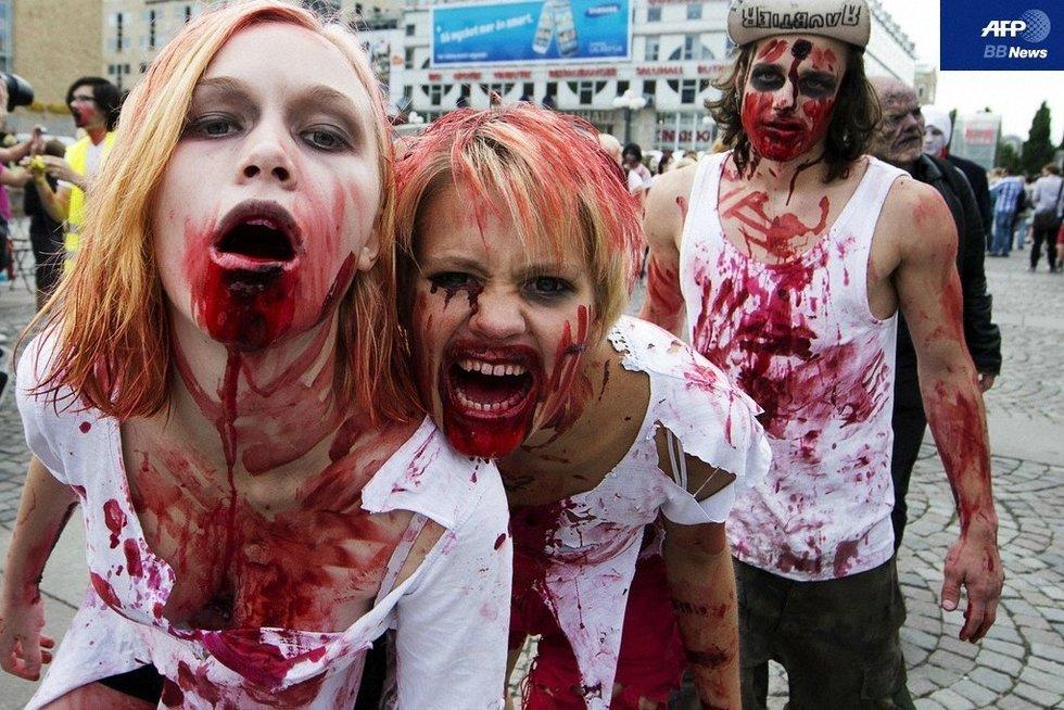 瑞典首都举行僵尸节!上演现实版求生之路图片