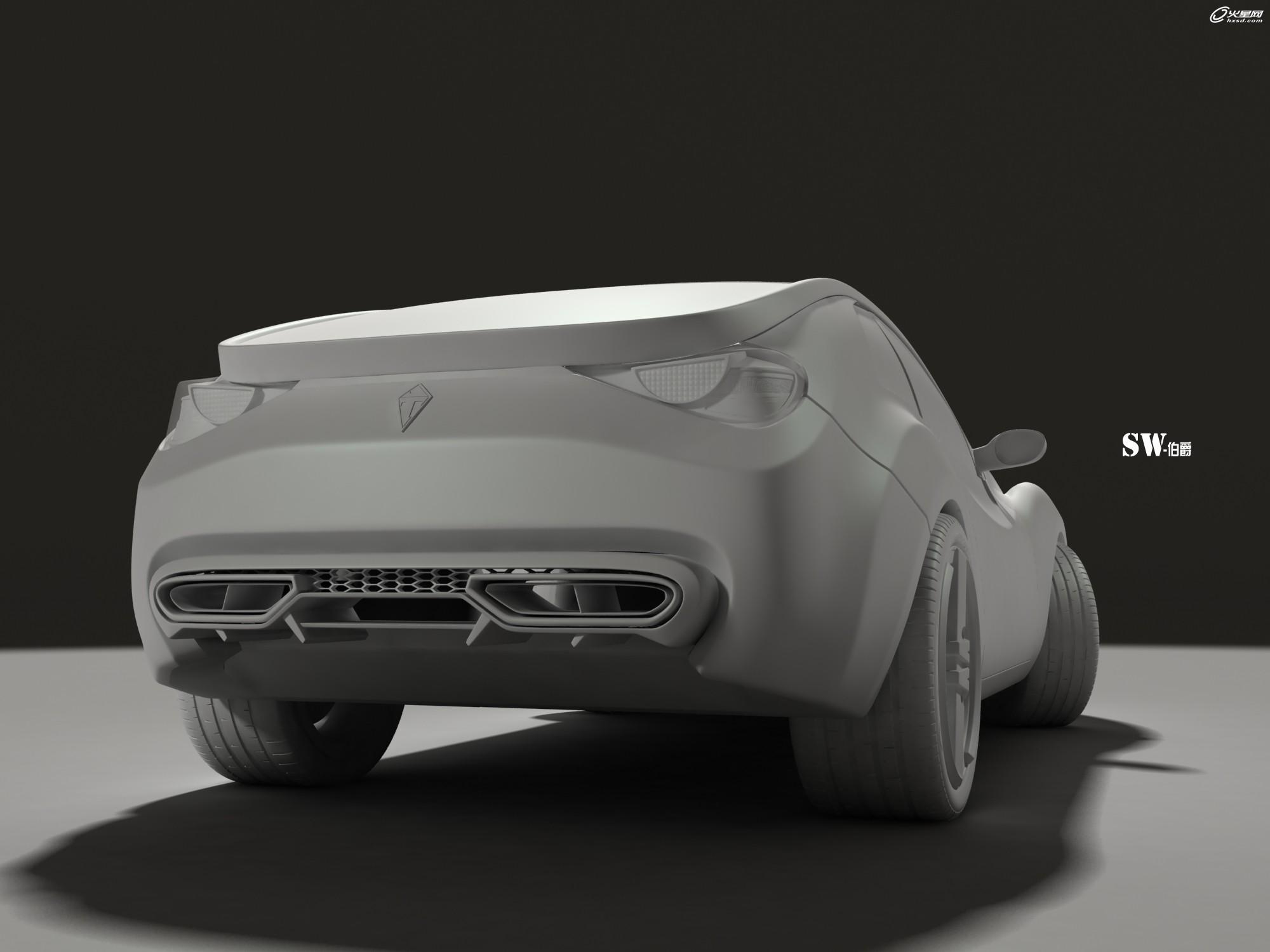 概念汽车三视图