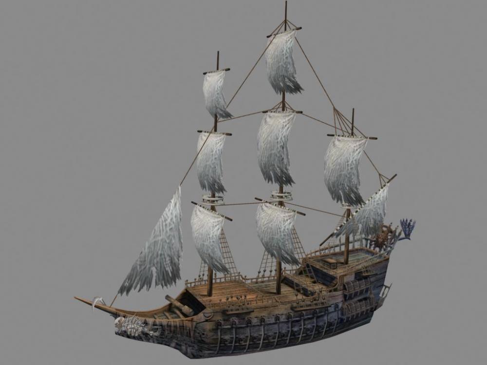 标签:模型素材船模型海盗船