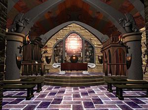 哥特式中世纪宫殿内部图片