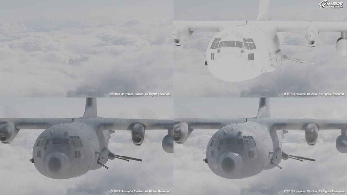 hercules军用运输飞机的制作过程
