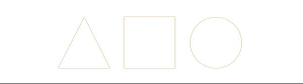 上图,等高,等宽的三角形,正方形,圆形我们会发现视觉上他们是不等大.