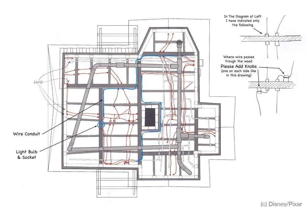 房屋三视图素材