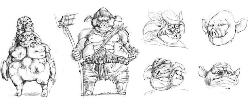 猪妖概念设计图
