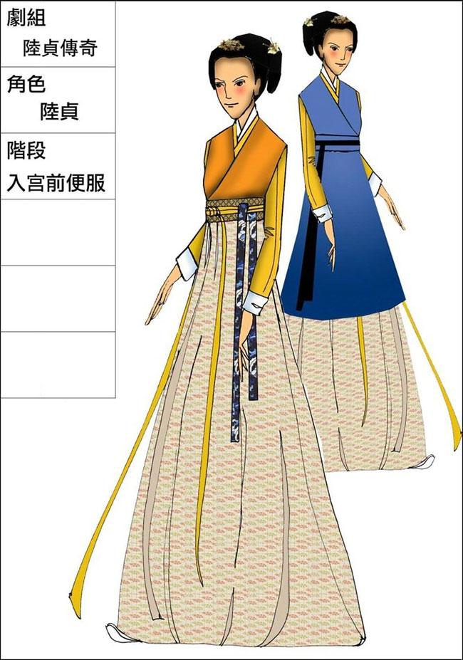 cos古代服装设计图纸展示
